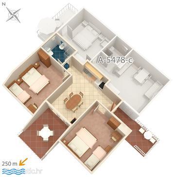 Apartment A-5478-e - Apartments Crikvenica (Crikvenica) - 5478