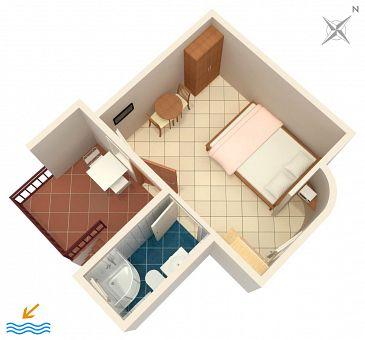 Studio flat AS-5486-a - Apartments Novi Vinodolski (Novi Vinodolski) - 5486