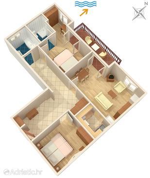 Apartment A-550-a - Apartments Medvinjak (Korčula) - 550
