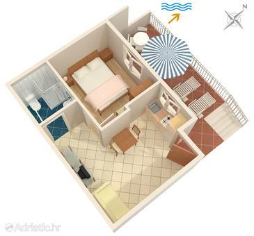 Apartment A-550-b - Apartments Medvinjak (Korčula) - 550