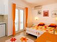 Bedroom - Studio flat AS-5503-a - Apartments Baška Voda (Makarska) - 5503