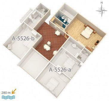 Studio AS-5526-a - Apartamenty Novi Vinodolski (Novi Vinodolski) - 5526