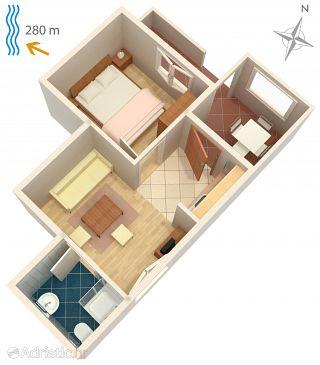 Apartment A-5548-d - Apartments Klenovica (Novi Vinodolski) - 5548
