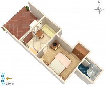 Studio AS-5548-a - Apartamenty Klenovica (Novi Vinodolski) - 5548