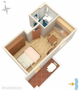 Studio flat AS-5550-a - Apartments Selce (Crikvenica) - 5550