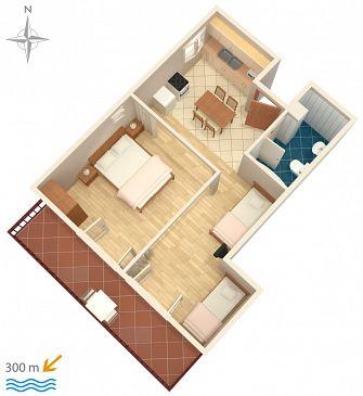 Studio flat AS-5560-a - Apartments and Rooms Senj (Senj) - 5560