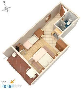 Studio flat AS-5585-b - Apartments Crikvenica (Crikvenica) - 5585