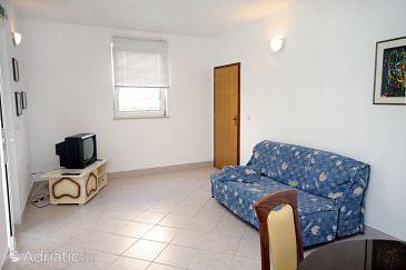 Supetar, Living room u smještaju tipa apartment.