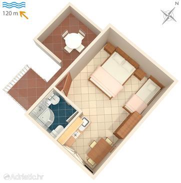 Studio flat AS-564-a - Apartments Hvar (Hvar) - 564