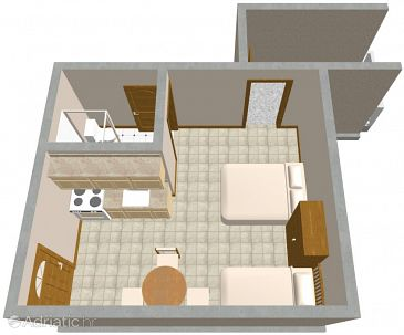 Studio flat AS-566-a - Apartments Sućuraj (Hvar) - 566