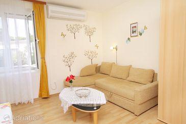 Postira, Living room u smještaju tipa apartment, dostupna klima i WIFI.