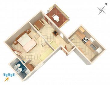 Apartment A-5691-a - Apartments Jelsa (Hvar) - 5691