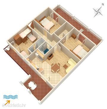 Apartment A-5703-b - Apartments Jelsa (Hvar) - 5703