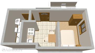 Studio flat AS-571-a - Apartments Žrnovska Banja (Korčula) - 571