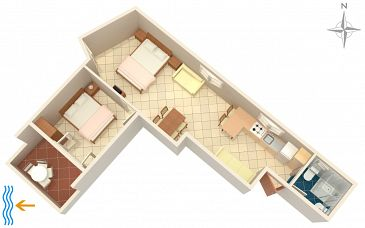 Apartment A-5759-a - Apartments Bibinje (Zadar) - 5759