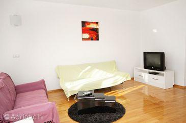 Zadar, Living room u smještaju tipa apartment.