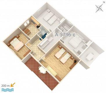 Apartment A-5796-b - Apartments Vrsi - Mulo (Zadar) - 5796