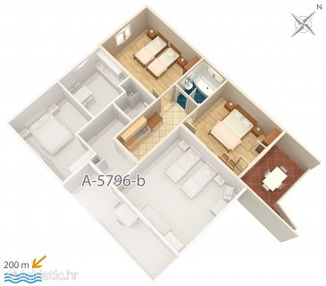 Apartment A-5796-c - Apartments Vrsi - Mulo (Zadar) - 5796