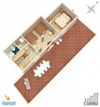 Apartament A-581-a - Apartamenty Uvala Torac (Hvar) - 581
