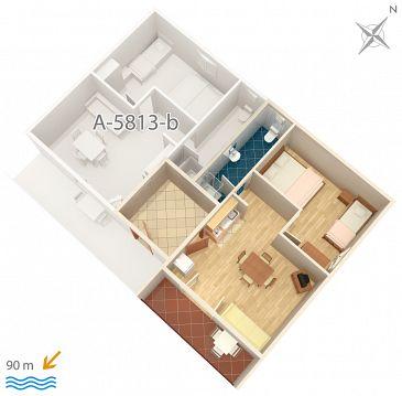Apartament A-5813-a - Apartamenty Privlaka (Zadar) - 5813