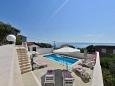 Sumpetar, Omiš, Courtyard 5855 - Vacation Rentals with pebble beach.