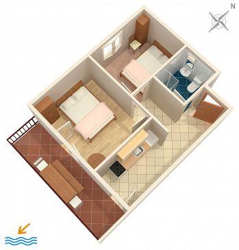 Apartament A-589-b - Apartamenty Uvala Torac (Hvar) - 589
