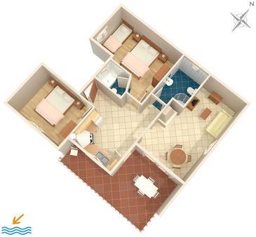 Apartment A-592-d - Apartments Ivan Dolac (Hvar) - 592
