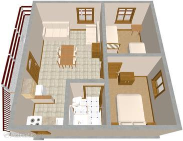 Apartment A-595-a - Apartments Mudri Dolac (Hvar) - 595