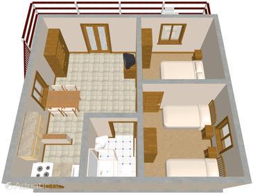 Apartment A-595-b - Apartments Mudri Dolac (Hvar) - 595