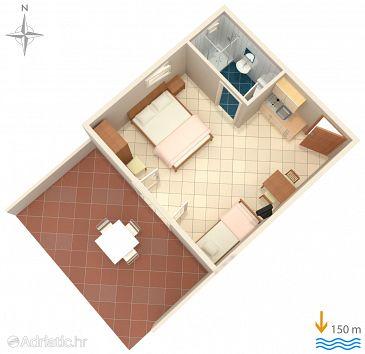 Studio flat AS-6005-a - Apartments Lokva Rogoznica (Omiš) - 6005