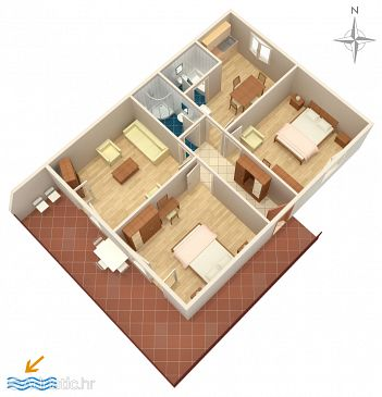 Apartment A-6023-a - Apartments Trogir (Trogir) - 6023