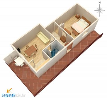 Trogir, Plan u smještaju tipa apartment, WIFI.