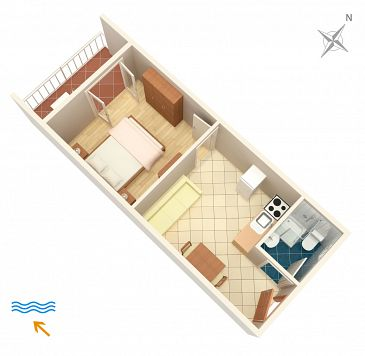 Apartament A-604-b - Kwatery Polače (Mljet) - 604