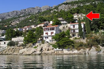 Property Pisak (Omiš) - Accommodation 6041 - Apartments near sea with pebble beach.
