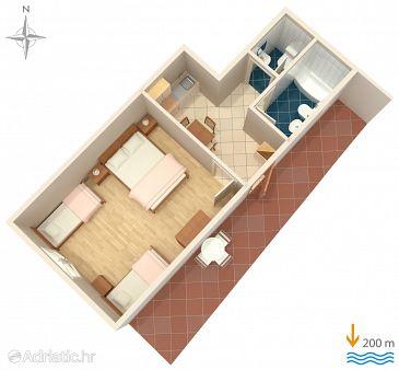 Apartment A-6057-d - Apartments Baška Voda (Makarska) - 6057