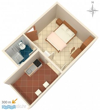 Studio flat AS-6070-b - Apartments Nemira (Omiš) - 6070