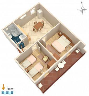 Apartment A-6116-d - Apartments Marina (Trogir) - 6116