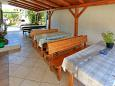 Bibinje, Zadar, Courtyard 6160 - Apartments with pebble beach.