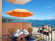 Posedarje, Terrace u smještaju tipa apartment, s pogledom na more i WIFI.