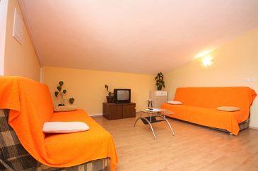 Vinjerac, Pokój dzienny w zakwaterowaniu typu apartment, dostupna klima i WIFI.