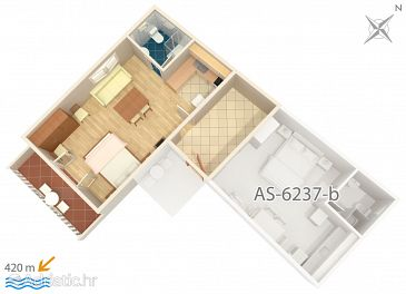 Studio flat AS-6237-a - Apartments Tribunj (Vodice) - 6237