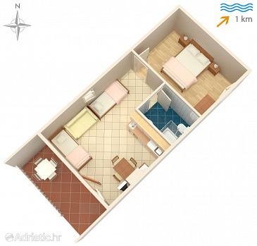 Apartment A-6258-c - Apartments Sabunike (Zadar) - 6258