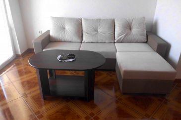 Pag, Living room u smještaju tipa apartment, dostupna klima i WIFI.