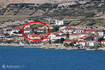 Property Kustići (Pag) - Accommodation 6320 - Apartments near sea with pebble beach.