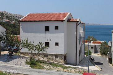 Property Metajna (Pag) - Accommodation 6337 - Apartments with sandy beach.