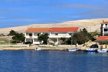 Property Kustići (Pag) - Accommodation 6355 - Apartments near sea with pebble beach.