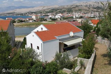 Property Pag (Pag) - Accommodation 6368 - Apartments near sea with pebble beach.