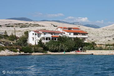 Property Kustići (Pag) - Accommodation 6376 - Apartments near sea with sandy beach.