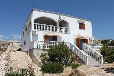 Property Kustići (Pag) - Accommodation 6392 - Apartments with pebble beach.