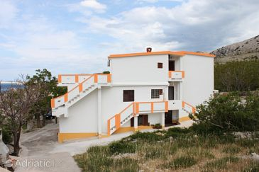 Property Metajna (Pag) - Accommodation 6421 - Apartments with sandy beach.
